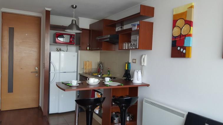 Apartamento con ba o privado en suite apartamento en for Utensilios de cocina santiago chile