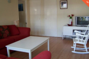 Quiet spacious apartment: 1 bedroom, 1 where-room, kitchen, bathroom, large garden